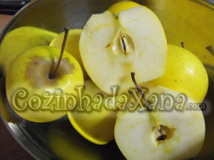 Bolo de maçã golden