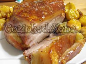 Pá de porco no forno com castanhas