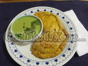 Pastéis de arroz no forno