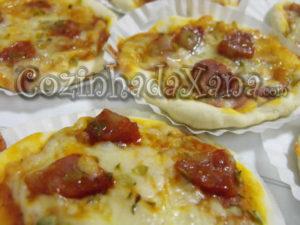 Mini pizzas para petiscar