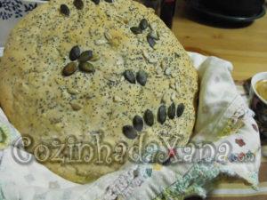 Pão amaldiçoado (Pão de sementes MFP) By Chefe Bruno