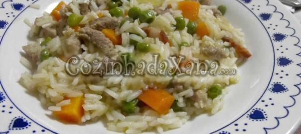 Jardineira de peru com arroz