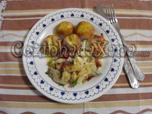 Bacalhau grelhado com pimentos