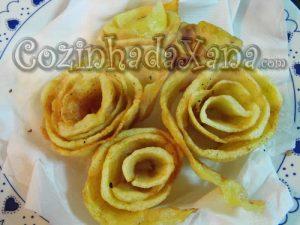 Como fazer Rosas de batata frita