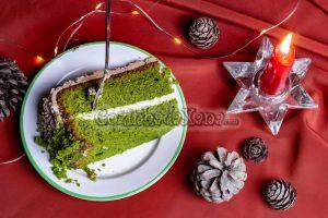 Bolo verde de espinafre